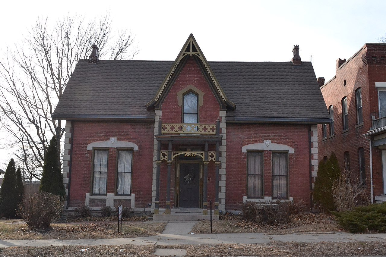 The Burnside-Sandusky Gothic House was built in 1871. Its Gothic architecture is not usually seen in homes.