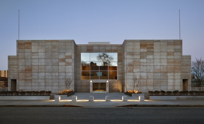 The Knoxville Museum of Art. The exterior is sheathed in locally quarried pink Tennessee marble.