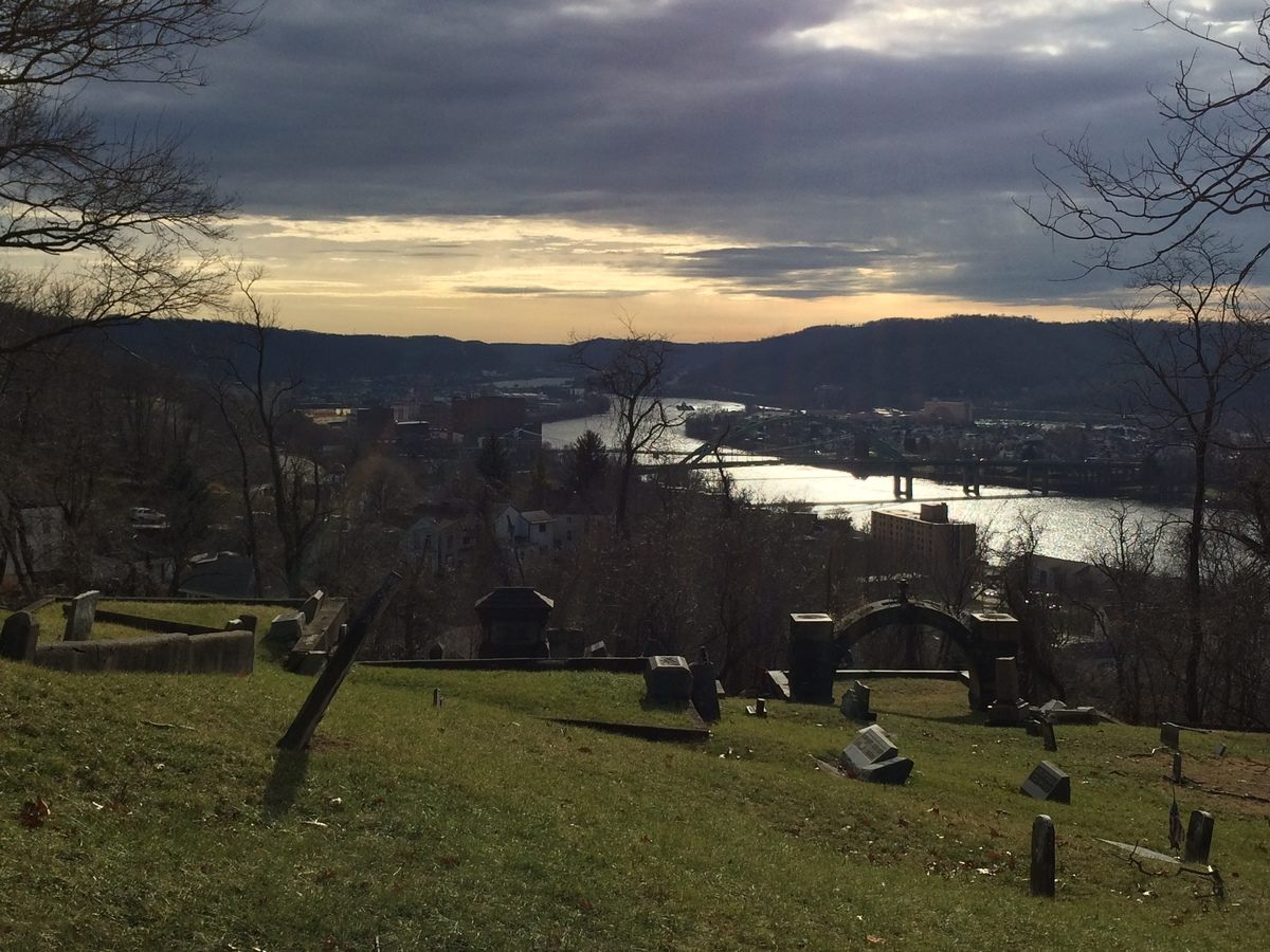 The view of the Ohio River from Mt. Wood Cemetery