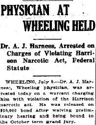 Article from the Mt. Sterling Advocate on Harness's arrest.