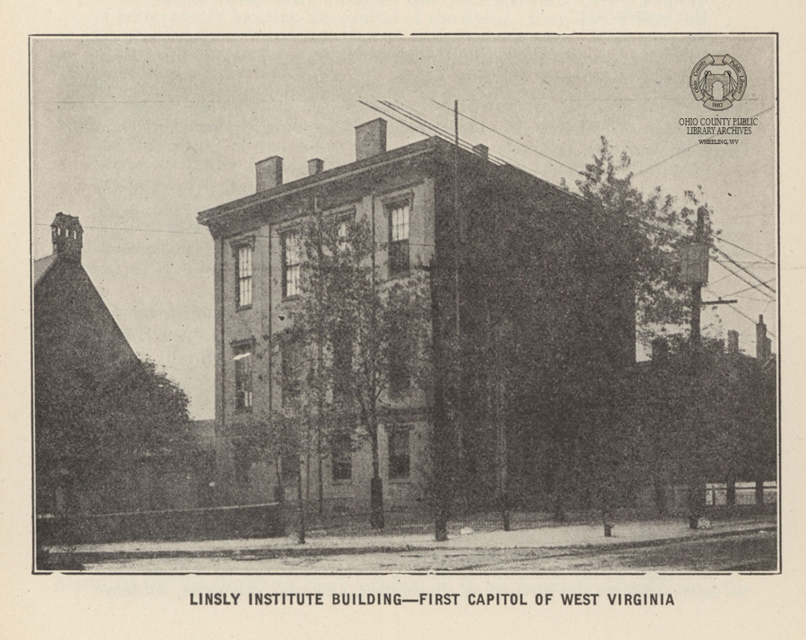 The Linsly Institute building in 1922