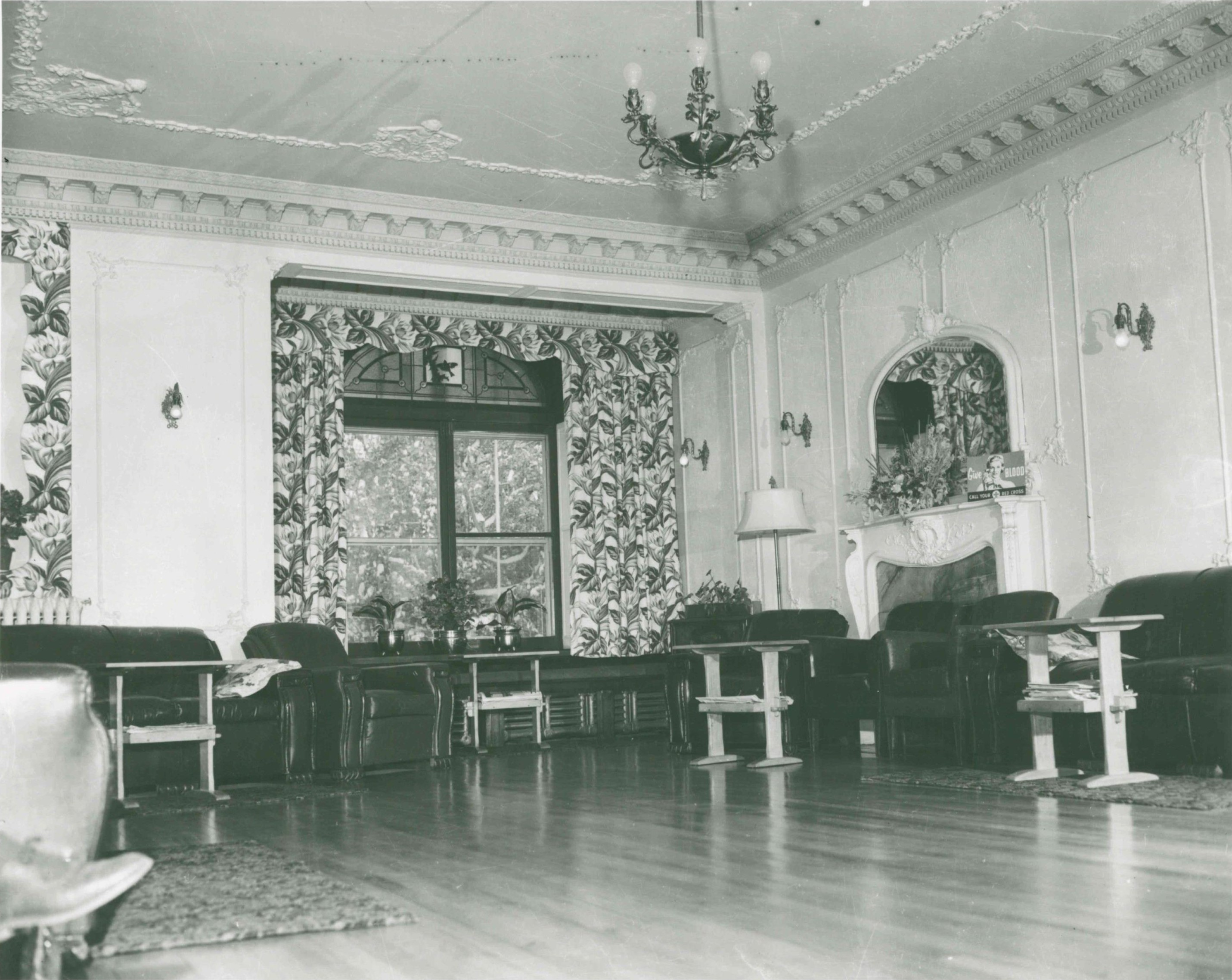 Image 4, Drawing Room during Red Cross Occupation, Unknown Date