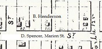 Henderson's home, 1855, Map od Jacksonville