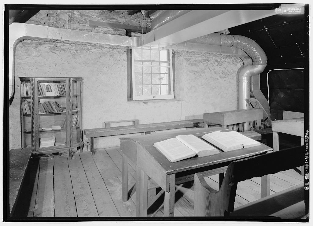 The second floor schoolroom.