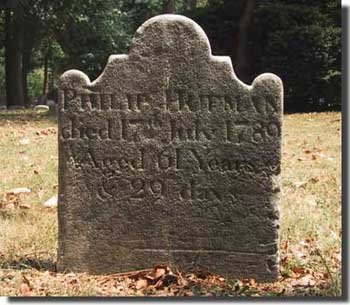 A 1798 headstone within the Friend's burial ground located in the property.