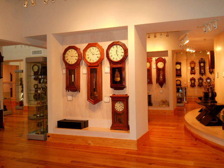 Some of the clocks on display in the museum