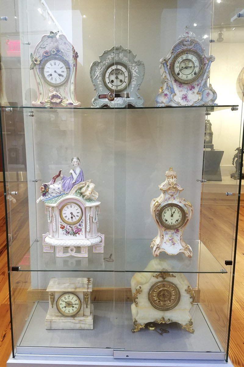 Some of the ornate clocks the museum displays