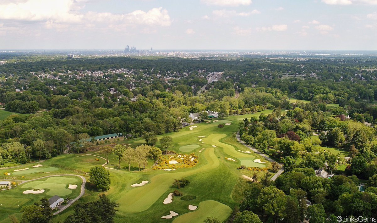 An aerial shot of Merion's East Course.