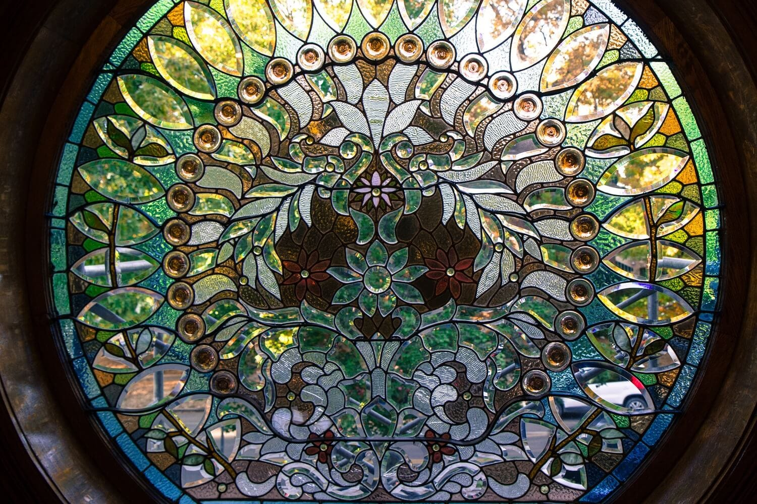 The Peacock Window by artist M. Watkins showing the impressionist style