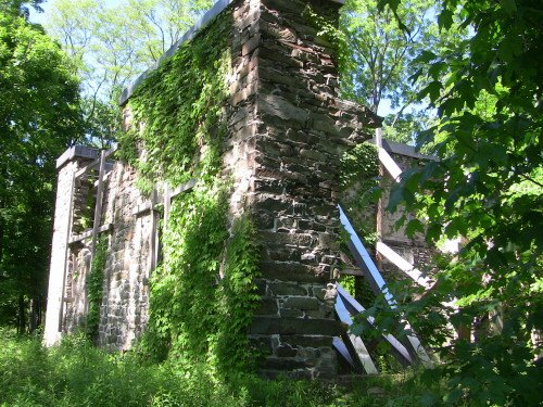 Recent photo of the mansion ruins after stabilization