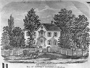 Earliest known depiction (engraving) of the Mansion (~ mid 1800s)