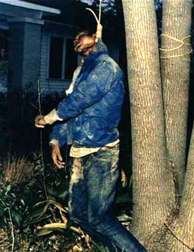 Michael Donald's body hanging from the tree at this location.