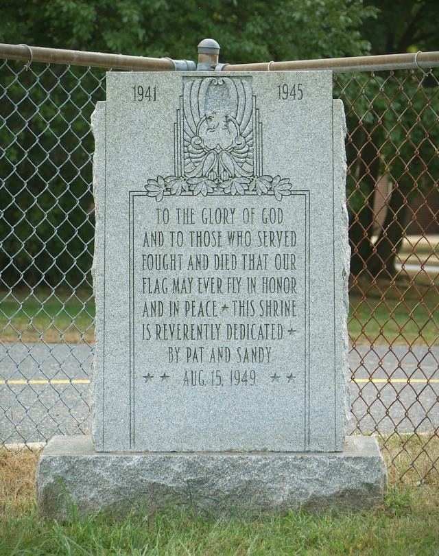 This is an image of the memorial when it was at Fort Monmouth.  Picture taken from https://www.army.mil/article/34903/memorial_with_rich_history_leaves_fort_monmouth