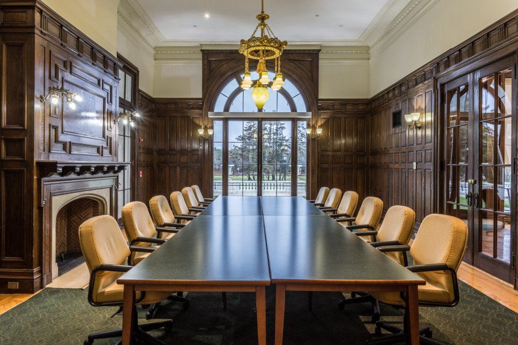 Dining room turned study room. BENJAMIN R. HARVEY COMPANY, INC.