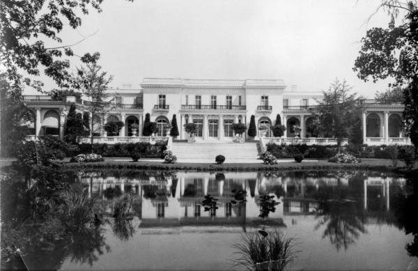 Exterior view, circa 1960. Library website.