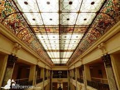 Stained glass ceiling. Photo by Nicholas Petrillo.