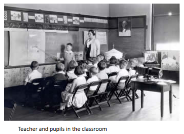 A classroom scene at Simms School