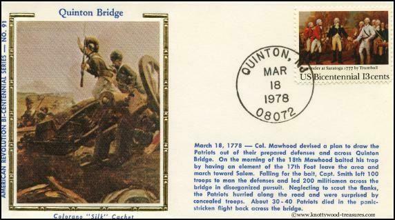 Postcard that details Battle at Quinton's Bridge
