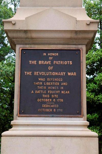 Memorial honoring Patriots in Revolutionary War at Chestnut Neck Monument