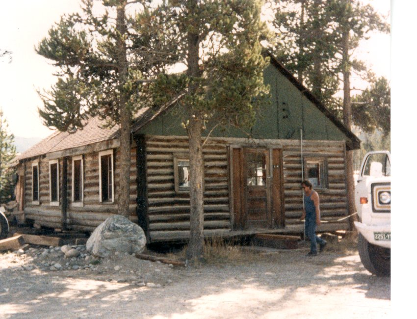 The Log Chapel in its original setting, c. 1986