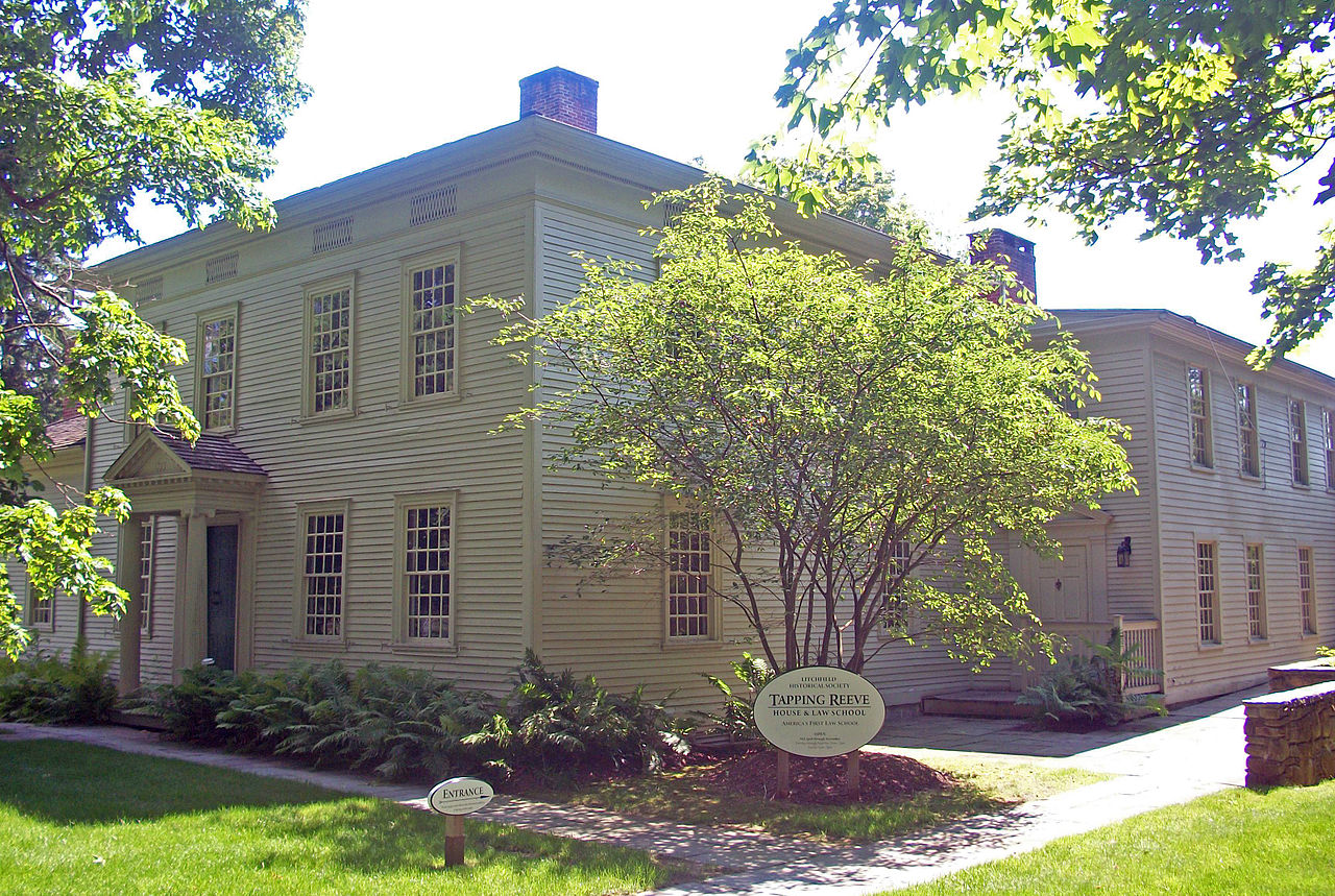 The Tapping Reeve House was the location of the country's first law school.