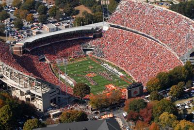 Overhead view of Memorial Stadium