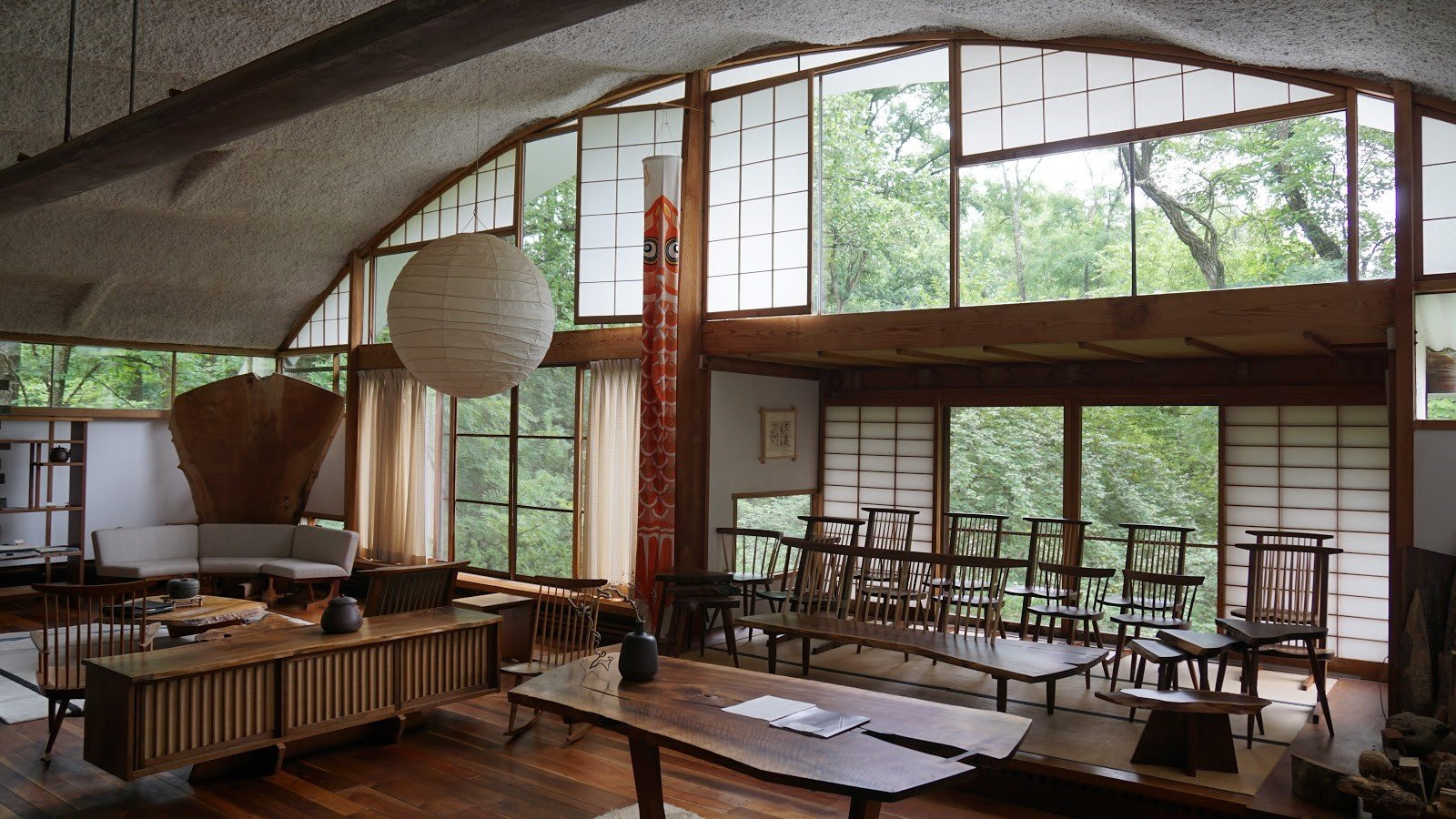 The interior of the Conoid Studio.