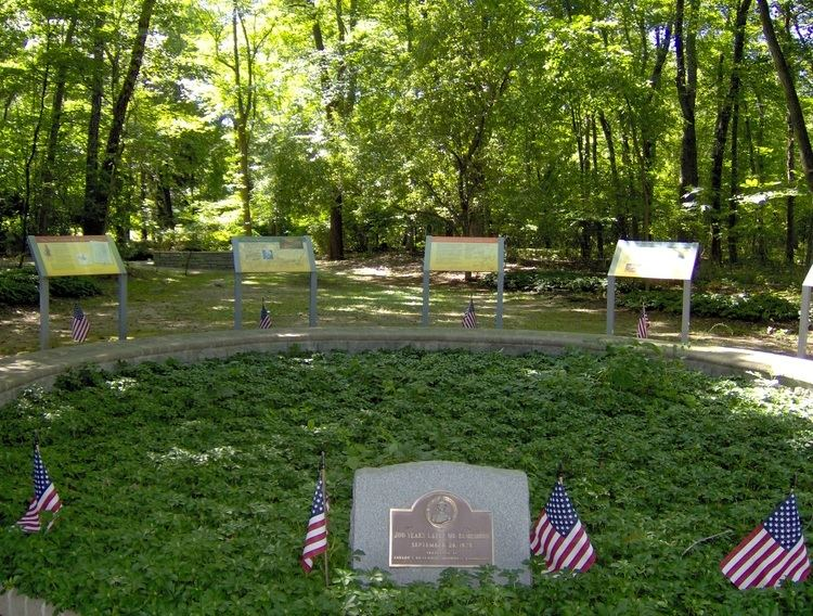 The burial ground and memorial site of six American Soldiers who were killed in the Baylor Massacre.