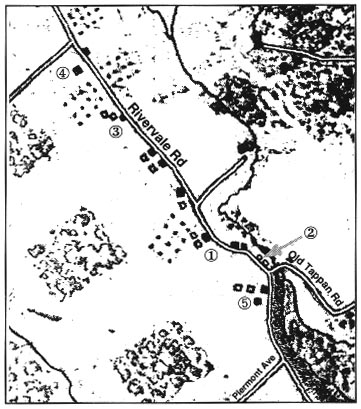Here is an overview of the map where the Baylor Massacre took place. The number 2 indicates where the British took over the colonist and submerged them into battle.
