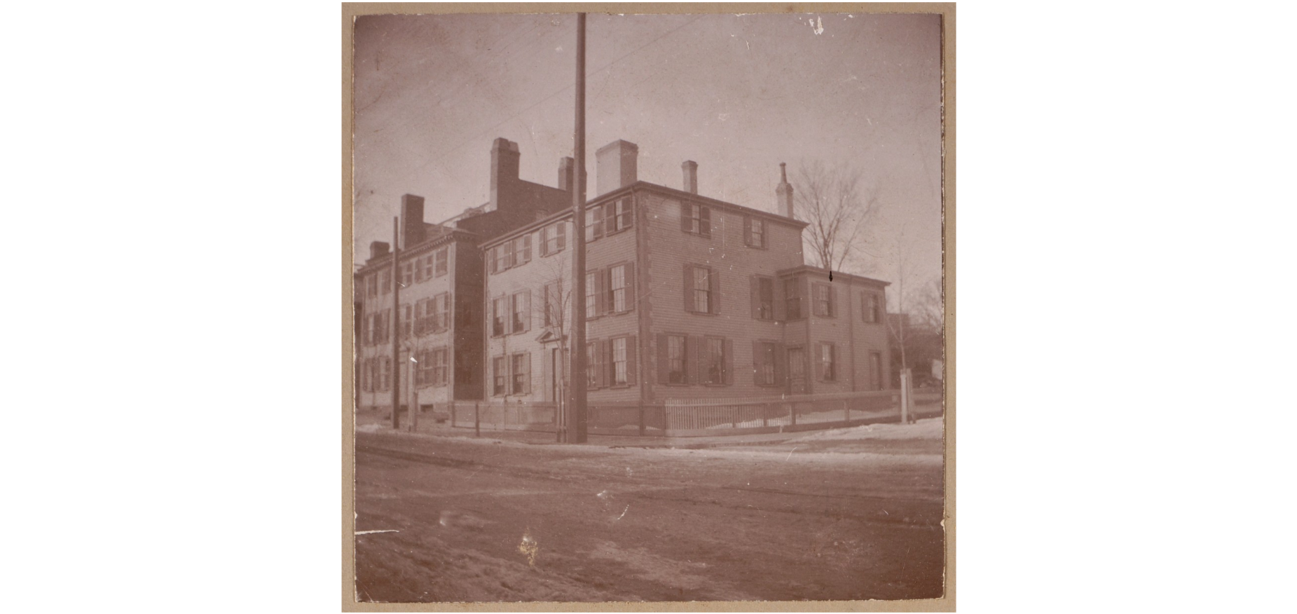 Isaac Hall House, taken between 1895-1905 (image from Boston Public Library)
