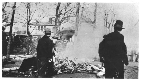 Crash scene of the Kentucky Cardinal, February 14, 1927