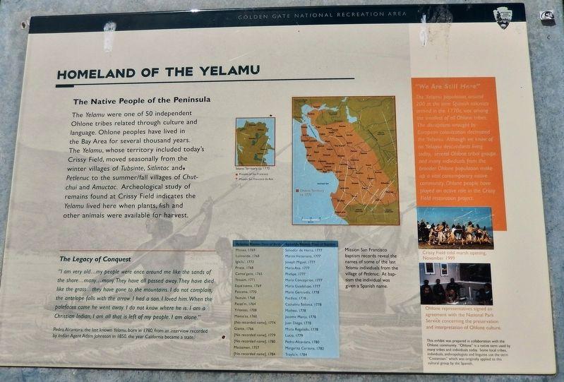 Homeland of the Yelamu Historical Marker