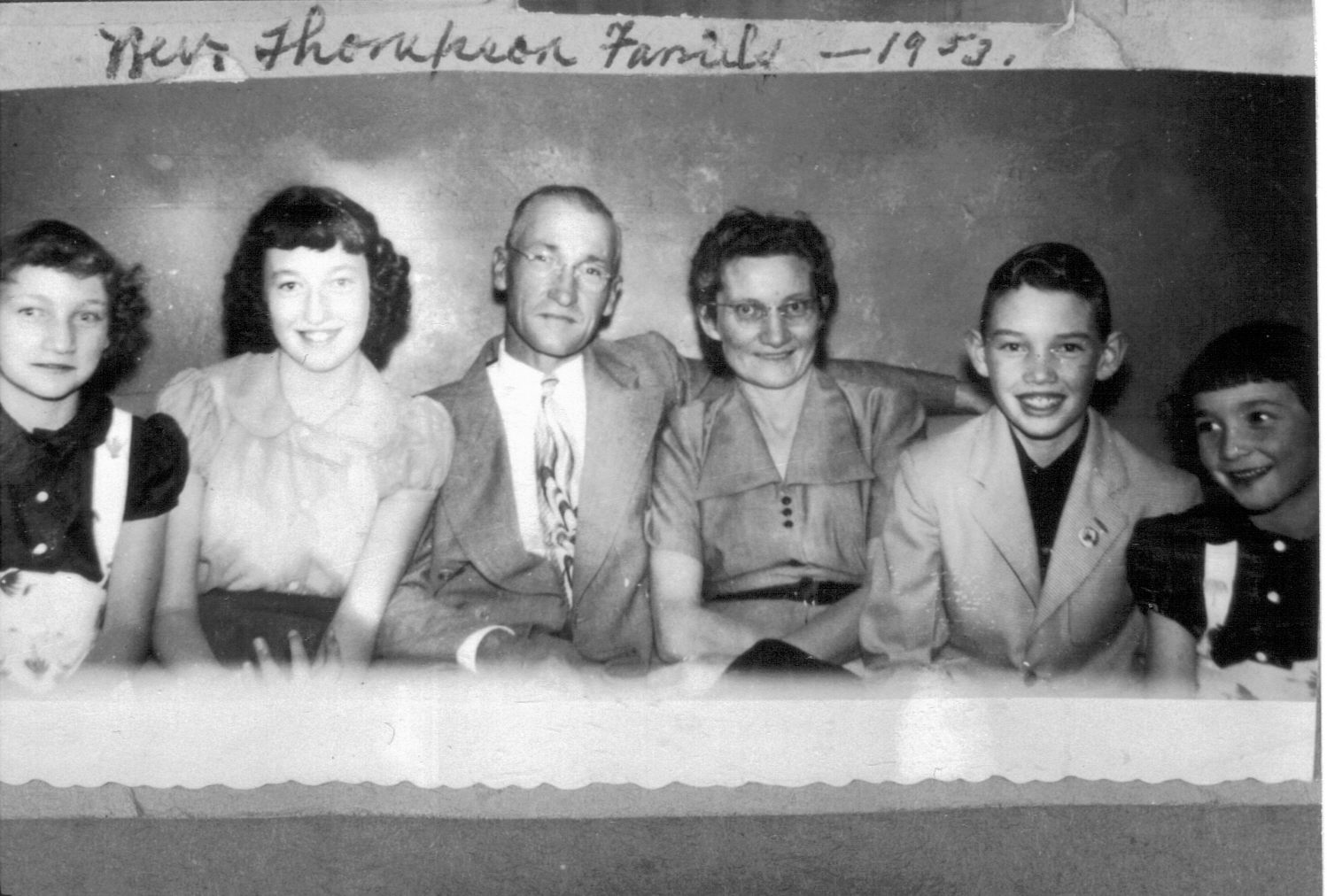 The Thompson Family in 1953