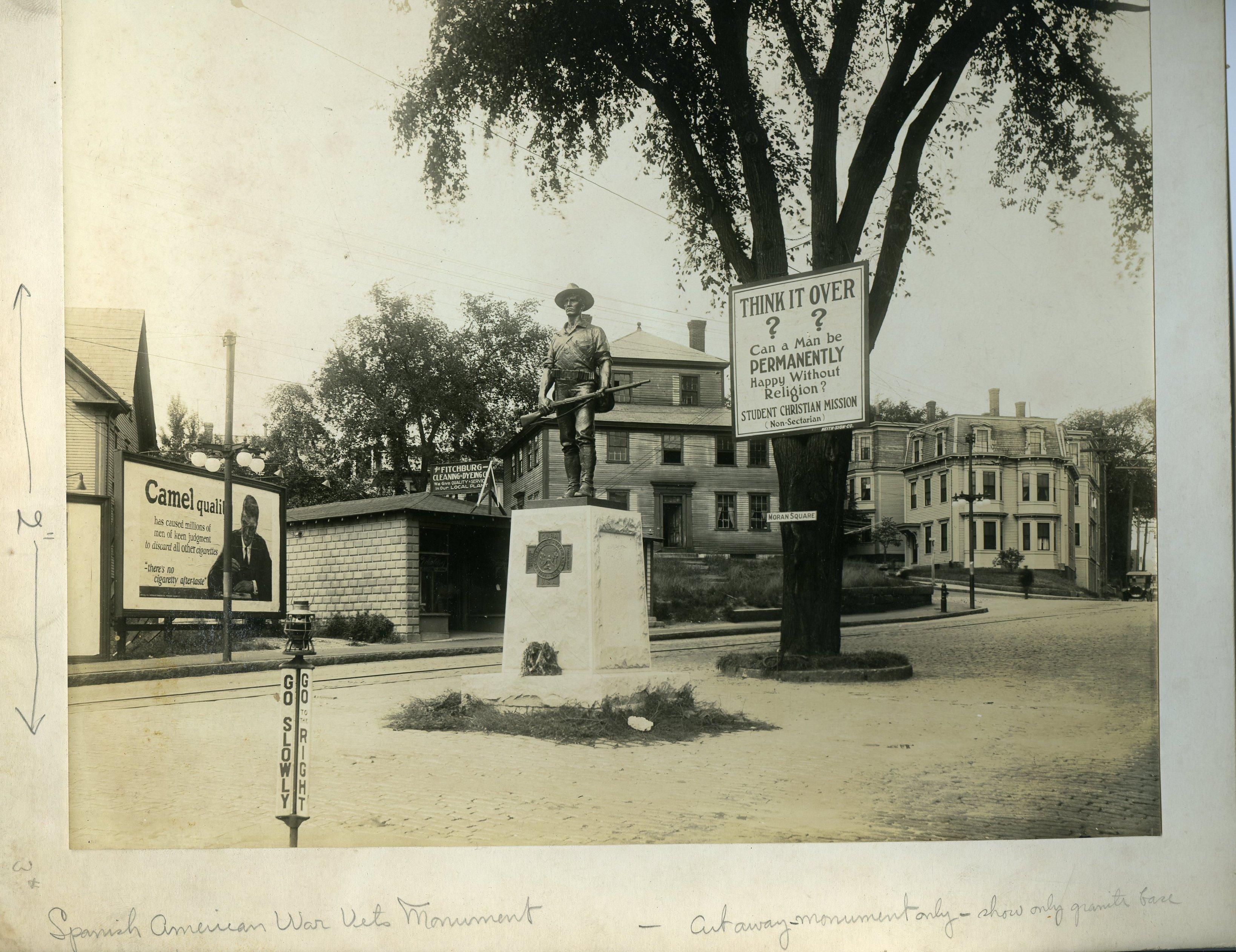 """Kitson's """"The Hiker"""" in Moran Square"""