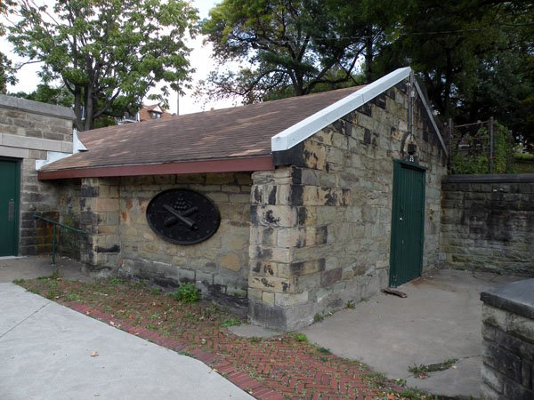 Nearby Arsenal Park includes the Allegheny Arsenal Powder Magazine which survived the blast and fire. It was built in 1814.