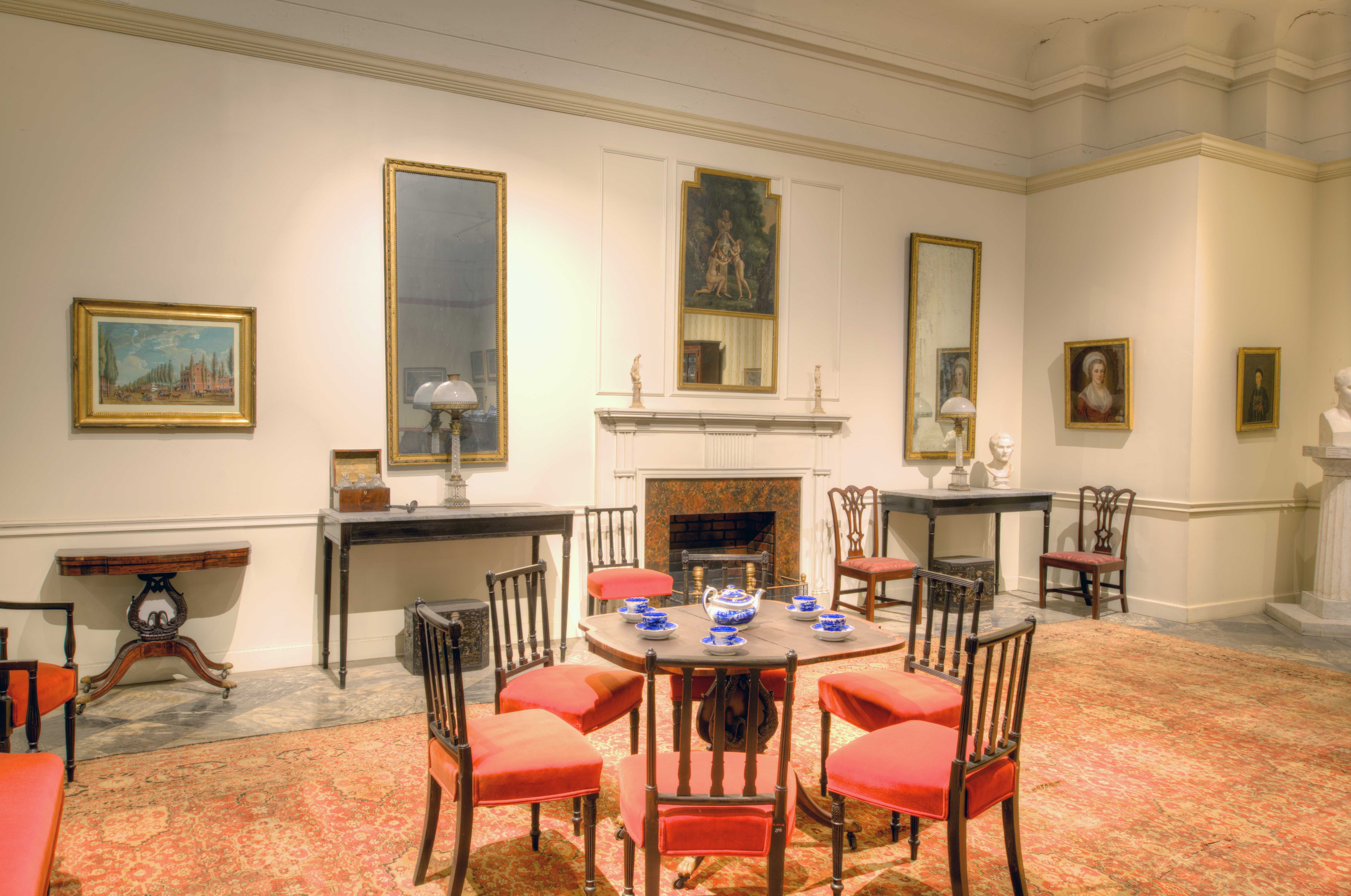 Parlor furnishings from Girard's house, installed at Founder's Hall museum
