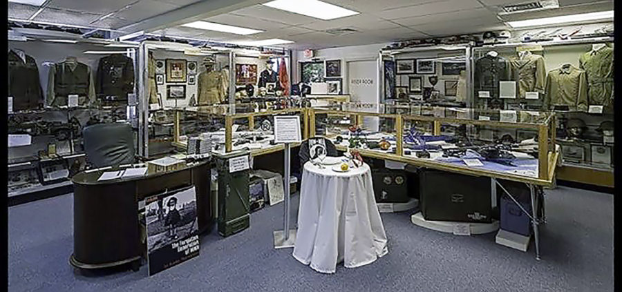Inside the main room of the museum