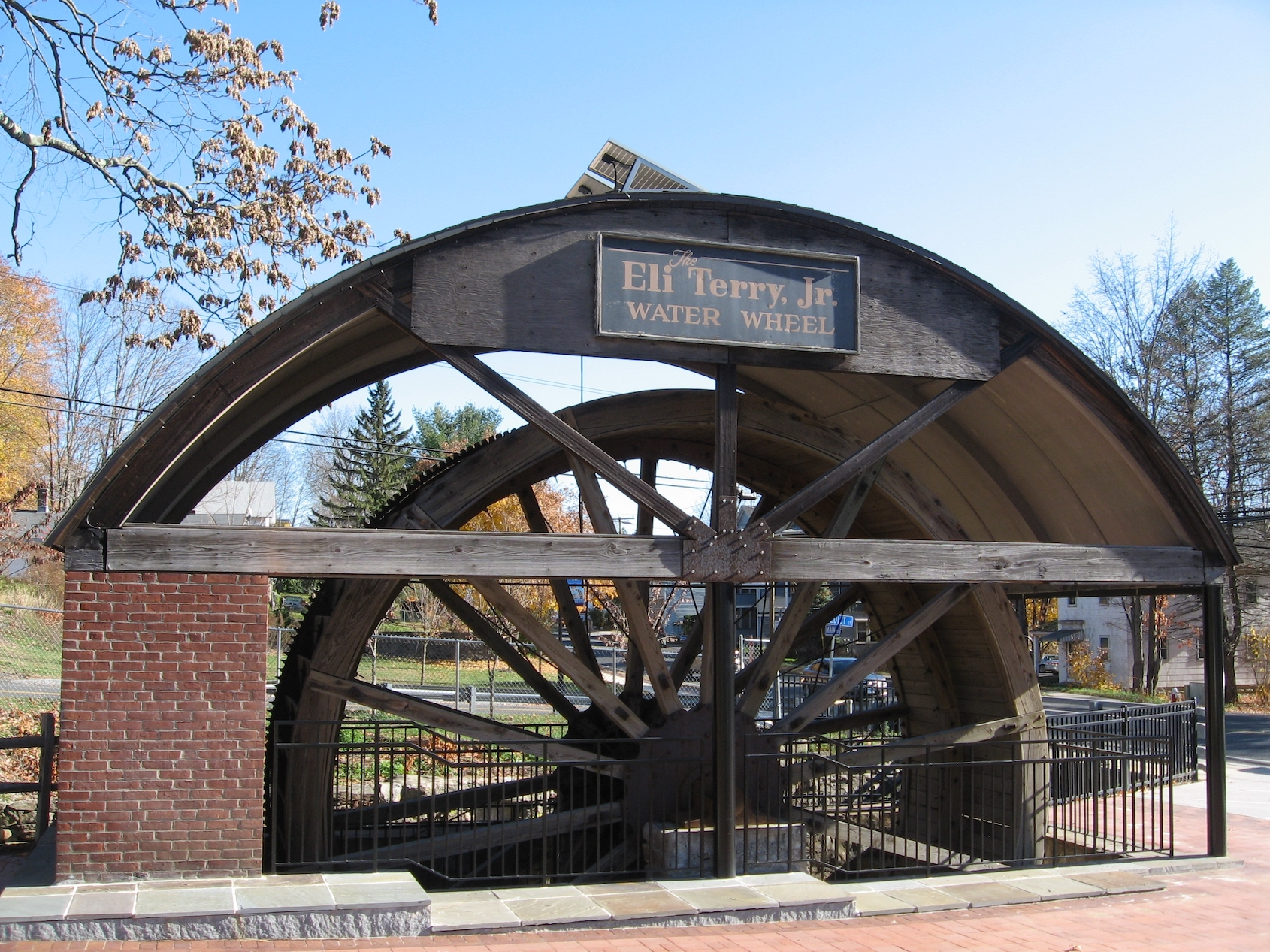 The Terryville Waterwheel is a rare intact example of a 19th century waterwheel.
