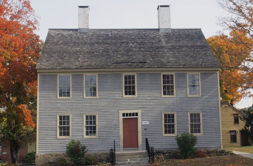 John Rider built this historic home around 1785. It is the oldest building in Danbury on its original location.