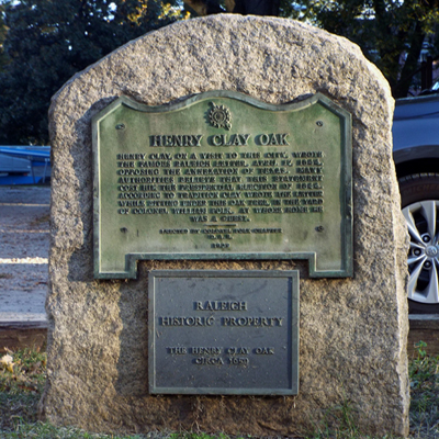 Marker commemorating the Henry Clay Oak.