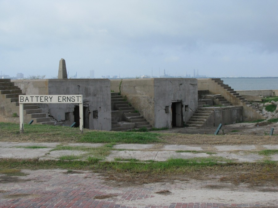 Battery Ernst served as defense against foes coming from the sea.