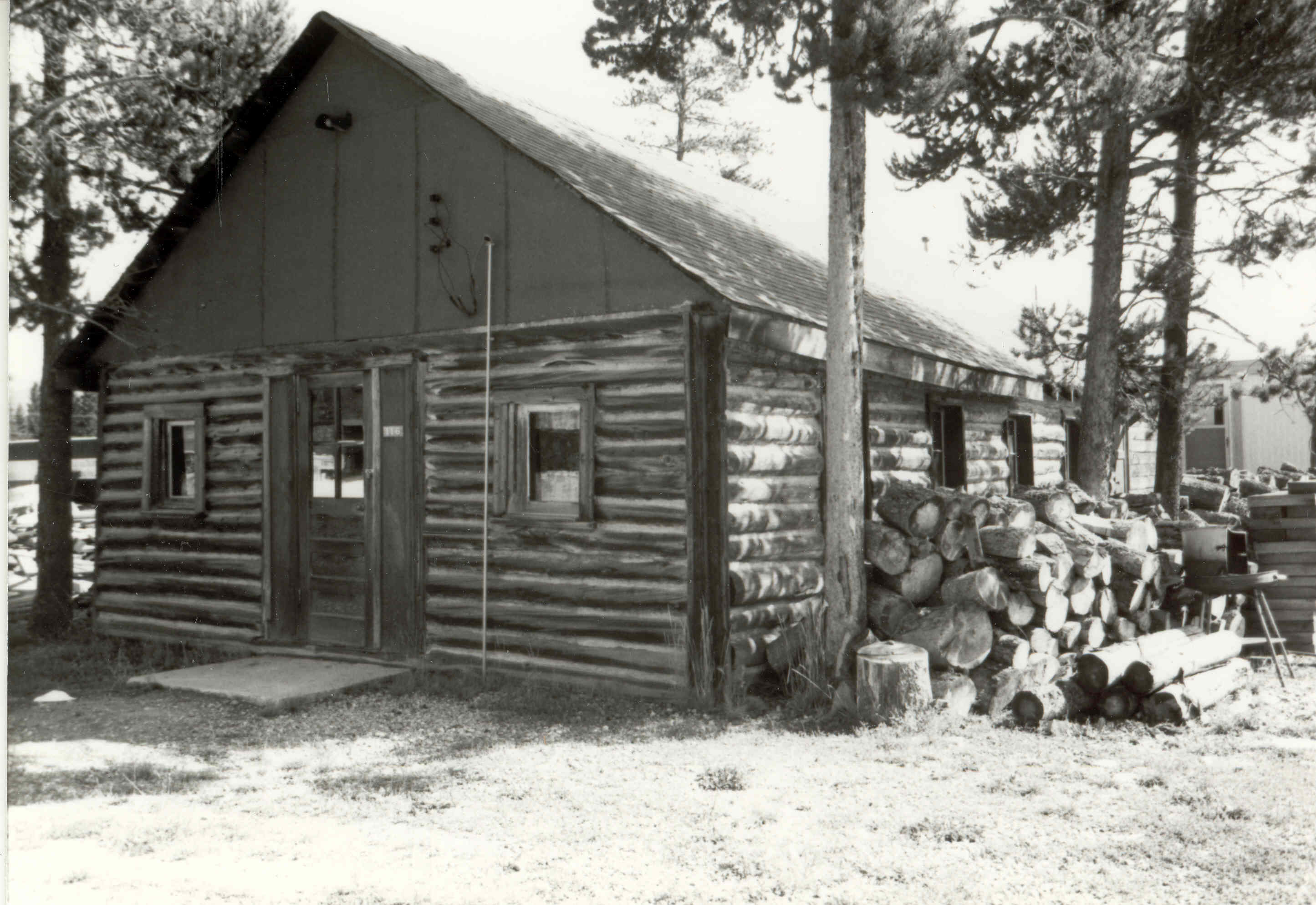 The Log Chapel in its original setting