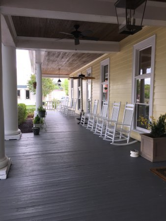 View of the first floor porch. Public access.
