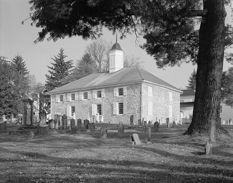 Rear view of Old Stone Presbyterian Church