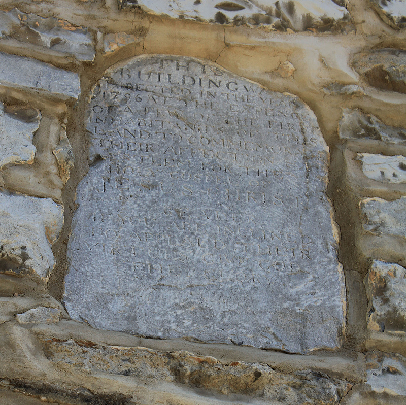 Inscribed stone above the front door at Old Stone