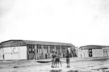 One of the hangars on the base.