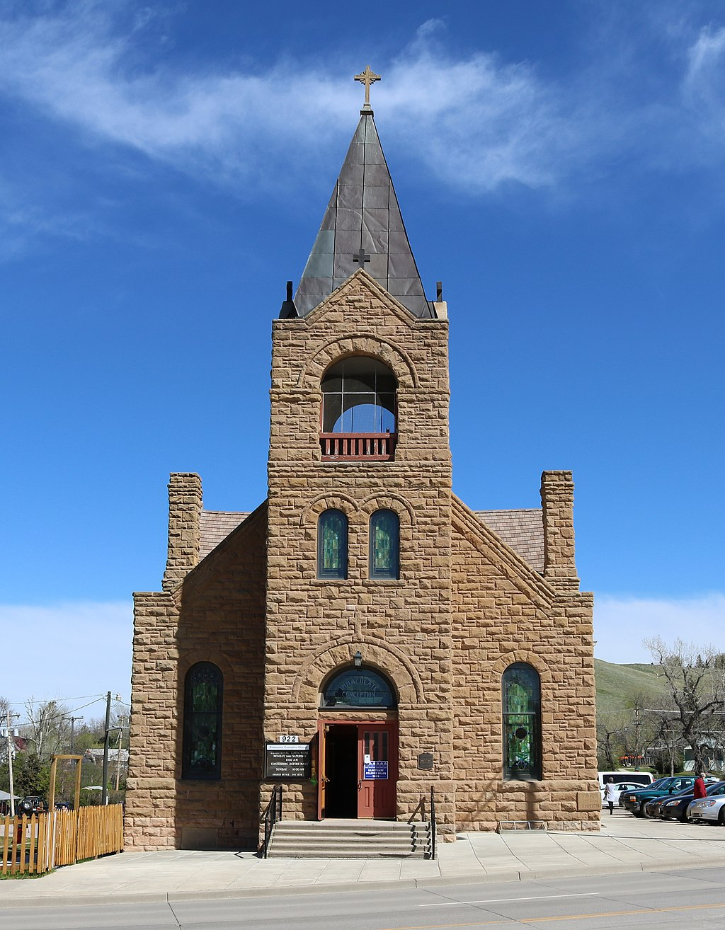 The Chapel of the Immaculate Conception was built in 1911 and was at one time the cathedral for the Diocese of Rapid City.