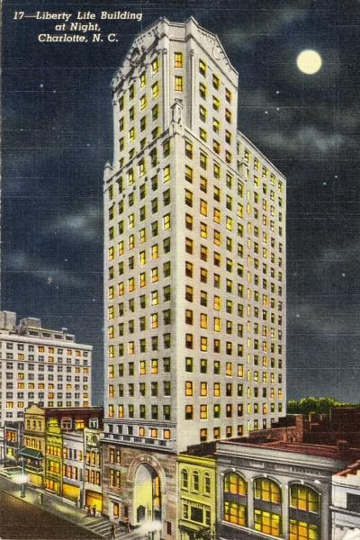 This picture shows how the building looked shortly after it was acquired by Liberty Life in 1942