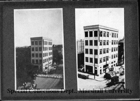 Construction photos of the Ritter Building-Style Shop, ca. 1950. Courtesy of Marshall University Special Collections.