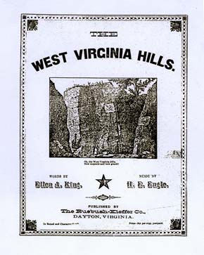 "A cover for one of the original copies of ""The West Virginia Hills"" Courtesy of WV State Archives"